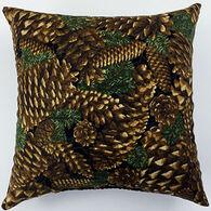 "Moosehead Balsam Fir 7"" x 7"" Pine Cone Pillow"