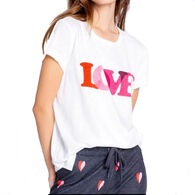 P.J. Salvage Women's Sealed With A Kiss Love Graphic Short-Sleeve Sleep T-Shirt