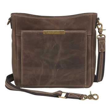 Gun Toten Mamas GTM–CZY/98 Distressed Leather Slim RFID Concealed Carry Cross Body Bag