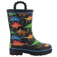 Western Chief Boys' Dino World Rain Boot