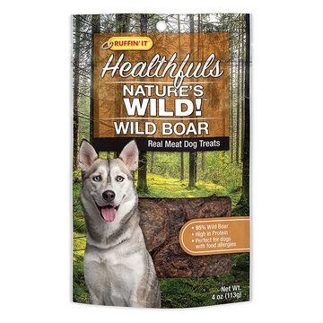 Ruffin It Healthfuls Natures Wild! Wild Boar Dog Treat - 4 oz.