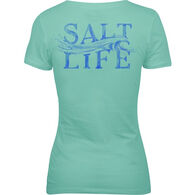 Salt Life Women's Wave V-Neck Short-Sleeve T-Shirt