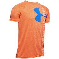 Under Armour Boy's Tech Split Logo Hybrid Short-Sleeve T-Shirt