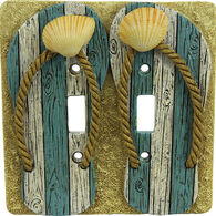 Rivers Edge Beach Double Switch Cover