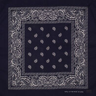 Artex Men's & Women's Black Paisley Bandana