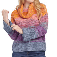 Tribal Women's Striped Cowl Neck Sweater