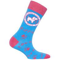 Puppie Love Women's Iris Logo Pup Crew Sock
