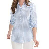 Southern Tide Women's Gameday Intercoastal Hadley Popover Long-Sleeve Shirt