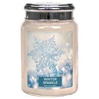 Village Candle Large Glass Jar Candle - Winter Sparkle