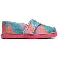 TOMS Toddler Girls' Tiny TOMS Multi Gradient Glitter Classic Slip On Shoe