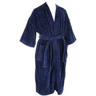 Majestic International Men's Basic Terry Velour Kimono Robe