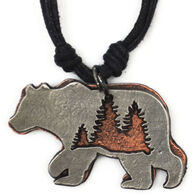 Anju Jewelry Women's Big Bear and The Forest Necklace