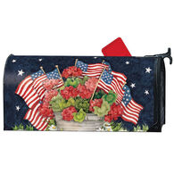 MailWraps Geraniums With Flags Magnetic Mailbox Cover
