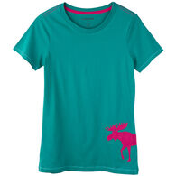 Hatley Women's Patterned Moose Jersey Short-Sleeve Sleep T-Shirt