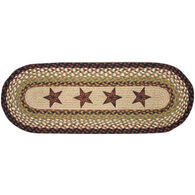 Capitol Earth Barn Star Braided Runner Rug