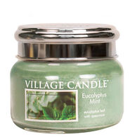 Village Candle Small Glass Jar Candle - Eucalyptus Mint