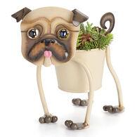 Georgetown Mini Painted Pug Garden Art Planter