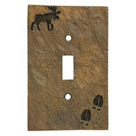 Big Sky Carvers Moose & Tracks Single Switch Plate Cover