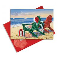 Cape Shore Red & Green Adirondacks Embellished Boxed Christmas Cards