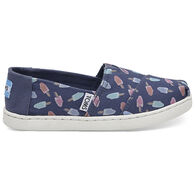 TOMS Boys' & Girls' Youth Canvas Alpargata Slip-On Shoe