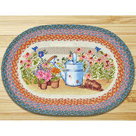 Capitol Earth Planting Time Oval Patch Rug