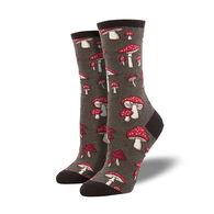 Socksmith Design Women's Pretty Fly For A Fungi Crew Sock