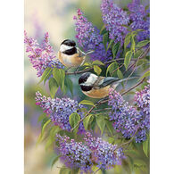 Outset Media Jigsaw Puzzle - Chickadees and Lilacs