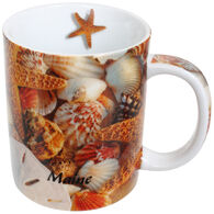 Cape Shore Maine Starfish and Shells Shore Mug
