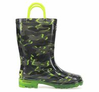 Western Chief Boys' Surf Camo Lighted Rain Boot