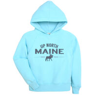 Lakeshirts Youth Blue 84 Up North Maine Moose Hooded Sweatshirt