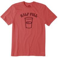 Life is Good Men's Half Full Crusher Short-Sleeve T-Shirt