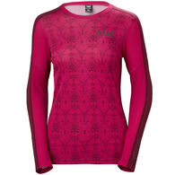 Helly Hansen Women's Lifa Active Graphic Crew Neck Baselayer Top