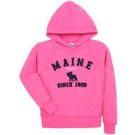 Lakeshirts Girl's Blue 84 Maine Moose Since 1820 Sweatshirt