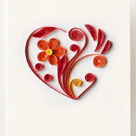 Quilling Card Heart Gift Enclosure Card
