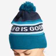 Life is Good Women's LIG Stripes So Chill Beanie