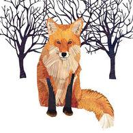 Paperproducts Design Winter Fox Beverage Napkin