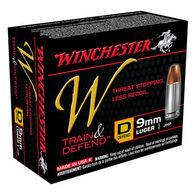 Winchester W Train & Defend 9mm Luger 147 Grain JHP Defend Handgun Ammo (20)