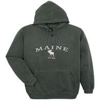 Austins Men's Maine Moose Hooded Sweatshirt