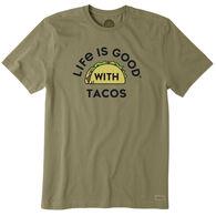 Life is Good Men's LIG With Tacos Crusher Short-Sleeve Sleep T-Shirt