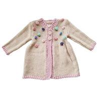 Huggalugs Infant Girl's Popcorn Sweater