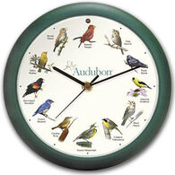 "Feldstein & Associates 13"" Audubon Singing Bird Clock"