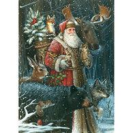 LPG Greetings Santa And Animals Boxed Christmas Cards