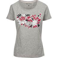 North River Women's Americana Print Slub Jersey Crew-Neck Short-Sleeve T-Shirt