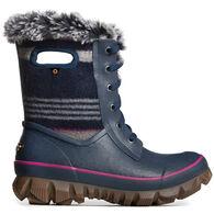 Bogs Women's Arcata Stripe Lace Up Waterproof Winter Boot