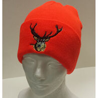 Artex Men's Knit Cuff with Deer Embroidery Hat
