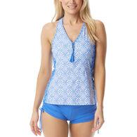 8f96ed438714a Beach House - Swimwear Anywear Women's Erinna Ahoy There Racerback Zip  Front Tankini Top Swimsuit