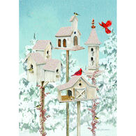 LPG Greetings White Birdhouses Boxed Christmas Cards