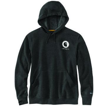 Carhartt Mens Big & Tall Force Delmont Graphic Hooded Sweatshirt