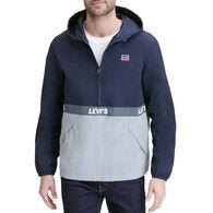 Levi's Men's Retro Color Block Hooded Pullover Jacket