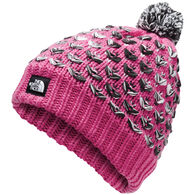 The North Face Girl's Chunky Pom Beanie